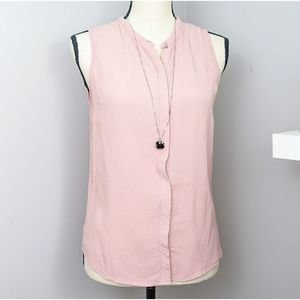 Forever 21 Mauve Sleeveless Button Down Blouse